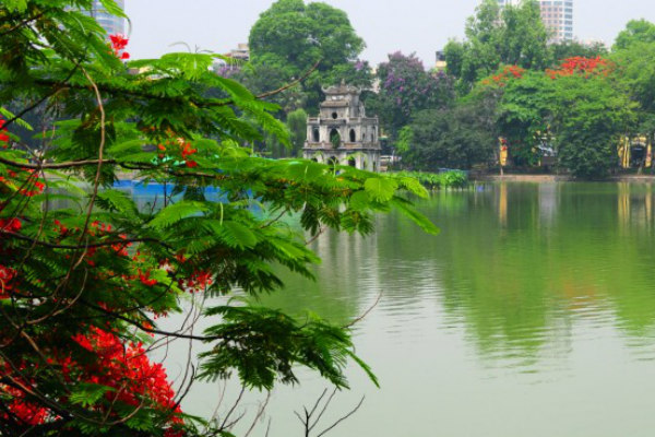 Hoan Kiem Lake, the heart of Hanoi